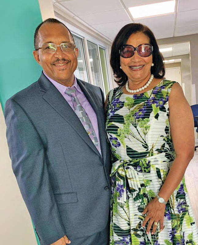 Dr. Heskith Vanterpool and wife Jean Vanterpool